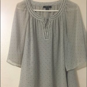 Style & Co blouse w/ studded embellishments